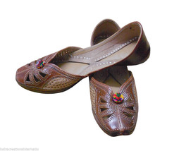 Women Shoes Indian Handmade Leather Jutti Ballet Flats Mojaries US 6.5 - $29.99