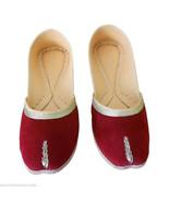 Women Shoes Indian Traditional Handmade Designer Slip-On Maroon Mojari US 8 - $27.99