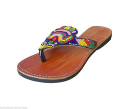 US 6-10 THREAD WORK SLIPPERS WOMEN SHOES LEATHE... - $29.99