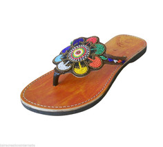 US 6-10 DESIGNER SLIPPERS WOMEN SHOES BEADED LE... - $29.99