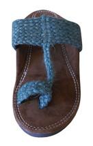 Men Slippers Indian Handmade Traditional Brown Flip-Flops Flats US 5-10 - $34.99