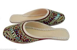 Women Slippers Indian Handmade Clogs Traditional Leather Open Jutti US 6-10  - $24.99