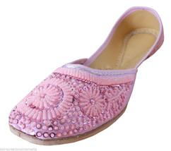 Women Shoes Traditional Handmade Mojari Leather Oxfords Flat Jutties US 9.5 - £22.64 GBP