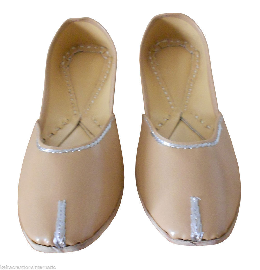 Primary image for Women Shoes Ballet Flats Leather Traditional Indian Handmade Mojari US 9.5