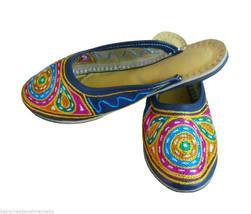 Women Slippers Indian Handmade Traditional Flip-Flops Clogs Mojari US 10 - $29.99