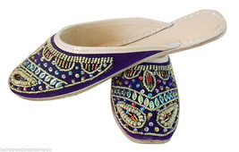 Women Slippers Indian Traditional Leather Flip-Flops Purple Slip On Clogs US 6-9 - $29.99