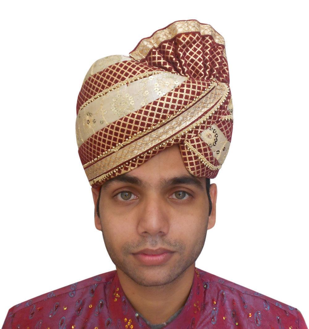 22 Quot Medium Pagri Indian Men Hat Handmade Pag Wedding Groom