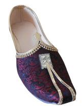 Men Shoes Jutti Indian Handmade Wedding Khussa Punjabi Loafers Mojari US 6-12 - $34.99