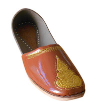 Men Shoes Handmade Indian Traditional Punjabi Loafers Leather Jutties US 8 - $34.99