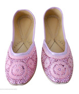 Women Shoes Indian Handmade Oxfords Leather Traditional Mojari Pink US 10 - $44.99
