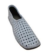 Men Shoes Indian Leather Flip-Flops White Handmade Mojaries Flat US 8-11 - $34.99