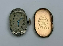 Vintage Ladies Elgin Parts Watch 19 Jewels Schwab & Wuischpard 10K Gold Filled - $24.75