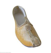 Men Shoes Indian Wedding Handmade Camel Khussa Loafers Flat Mojari US 7 - $34.99