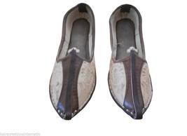 Men Shoes Indian Handmade Espadrilles Jutties Traditional Leather Mojari US 8 - $34.99