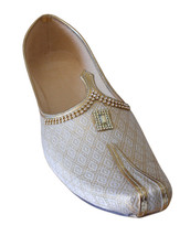Men Shoes Indian Handmade Groom Loafers Cream Wedding Khussa Mojari US 6-12 - $34.99