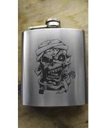 eddie iron maiden themed hip flask - $20.00