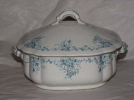 Ironstone Rectangular Vegetable Dish by T & R Boote Mid 19th Century Blu... - $49.01