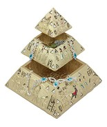 Ebros Egyptian Golden Pyramid Of The Gods And Deities Stackable Jewelry ... - $28.19
