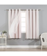 Curtains For Bedroom 63 Inches Long Window Sheer Room Darkening 4 Panels... - $79.19