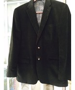 LAUREN BY RALPH LAUREN MEN'S BLACK CORDUROY BLAZER 41R W/SUEDE PATCHES EUC - $79.94