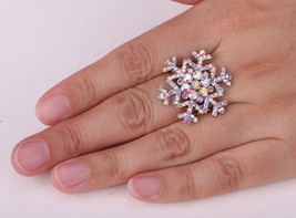 Snowflake Stretch Ring Thanksgiving Holiday Xmas Gifts For Women Girls - $9.99