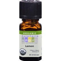 Aura Cacia Organic Essential Oil - Lemon - .25 ... - $5.49