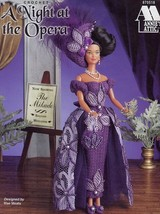 A Night At The Opera Barbie Doll Annie's Crochet PATTERN/INSTRUCTION/NEW Leaflet - $5.82