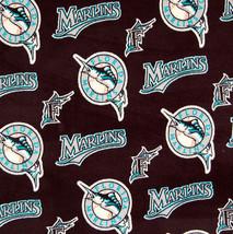 "Florida Marlins Baby Blanket Fleece Pet Lap Teal Black 30""x 24"" MLB Base... - $39.95"