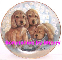 Puppy Pals Time Out Dog Collector Plate Danbury Mint Retired - $59.95