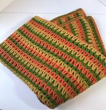 Vintage 1970s Afghan Crochet 56x74 Throw Blanke... - $48.37
