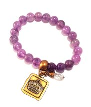 Bella Ryann Crown Jewels Amethyst Bracelet Gold Crown Charm and Crystal