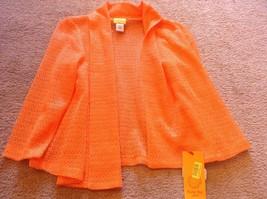 ruby rd petite small high voltage mandarin orange Jacket Women's Sz ps  ... - $12.20