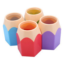 1Pcs Desktop Vase Pencil Pot Pen Holder Makeup ... - $9.12