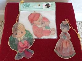 3 ENESCO CAPIZ SHELL PRECIOUS MOMENTS CHRISTMAS ORNAMENTS (#1750) - $13.99