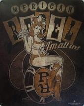 Merican Rebel Casino Card Pin Up Girl Metal Sign - $12.95
