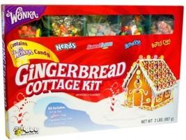 Wonka Gingerbread Cottage Candy Kit Nerds Runts Sweet Tarts Bottlecaps - £28.20 GBP