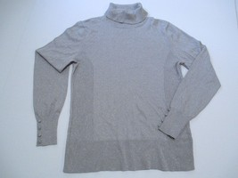 Alfani Turtle Neck Long Sleeve Sweater, Gray, Sz. Medium - $32.03