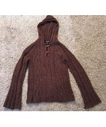 American Eagle Outfitters Women's Brown Lambswool Sweater W/ Hood, Size M - $26.99