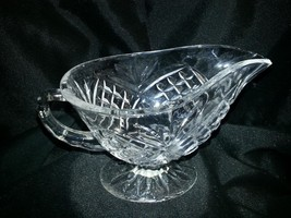 Shannon Lead Crystal Pineapple Design Gravy Boat - $25.00