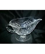 Shannon Lead Crystal Pineapple Design Gravy Boat - $25.00