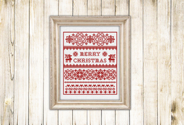 Cross stitch pattern Christmas Sampler - $5.00