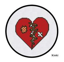 Cross stitch pattern Broken Heart - $4.50