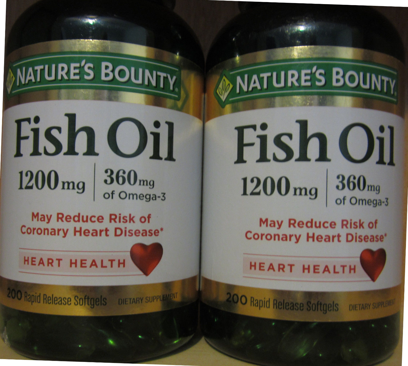 2 pack nature 39 s bounty fish oil for heart health for Nature s bounty fish oil 1200 mg