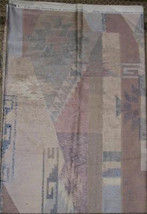 """Blue Beige Mauve Taupe Upholstery Decor Fabric 56"""" Wide Units $4 Per Yard - $1.00"""