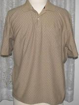 BROWN on BEIGE Cotton Blend Soft Knit GOLF SHIRT Size XXL Arrow - $9.99+