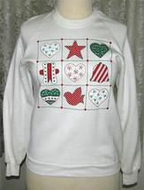 CREAM Holiday SWEATSHIRT Size Large Jerzees - $12.99