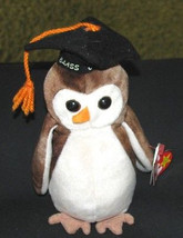 BEANIE BABY Class of '98 Wise NWT Retired Collectible - $1.99