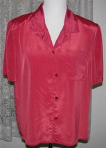 DARK CORAL Polyester SHIRT Size Medium 12 Hasting & Smith - $16.98