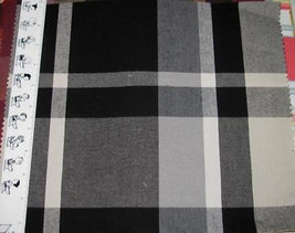 7 Large Plaid Cotton Poly Fabric Samples - $1.25