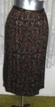 DARK PAISLEY on FOREST GREEN Brushed Rayon SKIRT Size 16 Worthington - $14.98